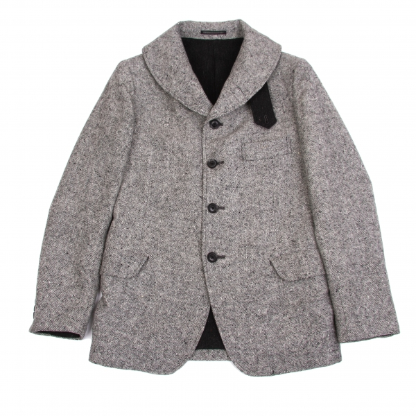 Yohji Yamamoto POUR HOMME Tweed Jacket Größe 3(K 64091) 3(K