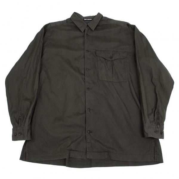 イッセイミヤケメンISSEY MIYAKE MEN フラップポケットシャツ カーキXL位