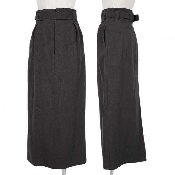 Y's Wool Wide Slit Self-Belted Skirt Größe S-M(K-64990)