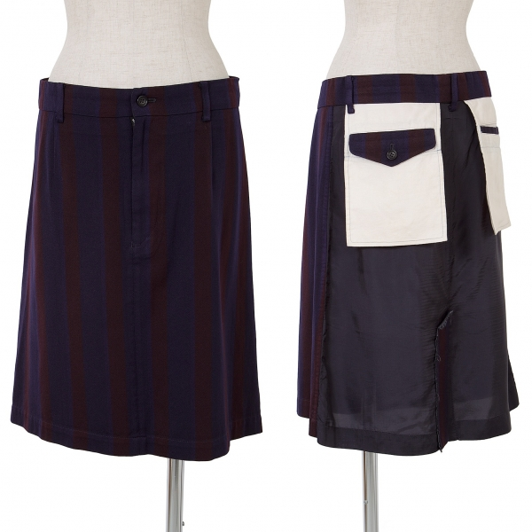 Tricot COMME des GARCONS Dyed Striped Skirt Size M(K-65155)