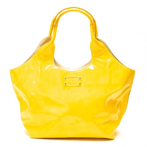 ケイトスペードKate Spade エナメルレザーハンドバッグ 黄