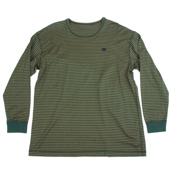 Papas Cotton Striped Long Sleeve T Shirt Size L(K-65568)