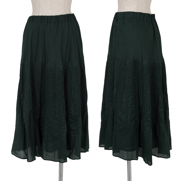 Plantation Dyed Embroidery Skirt Size S-M(K-65829)