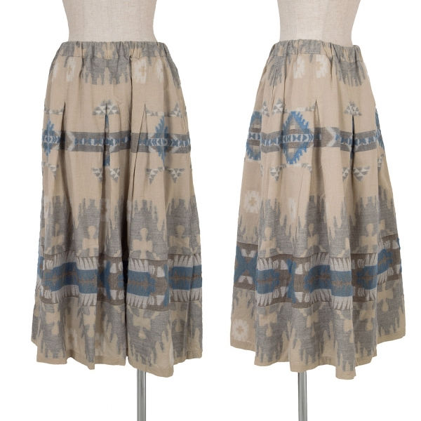 Plantation Pattern Design Skirt Size M(K-65830)