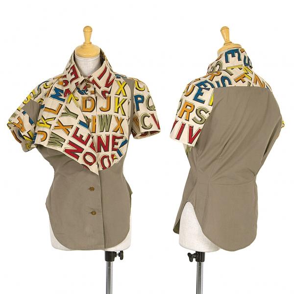 Vivienne Westwood  Etiqueta Roja Manga Corta Camisa Tamaño 2 (K-65861)  mejor moda