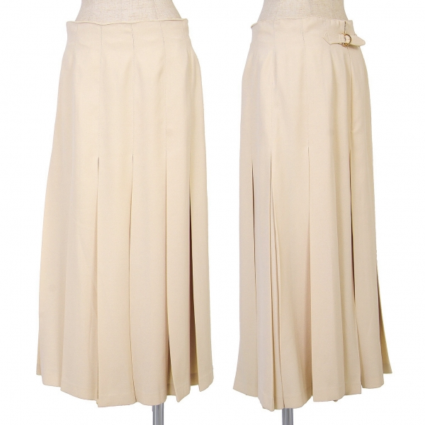 YOSHIE INABA L'EQUIPE Polyester Pleated Skirt Size 11(K-66033)
