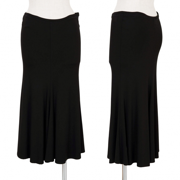ダナキャランDKNY レーヨンストレッチAラインスカート 黒M