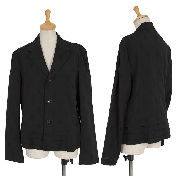 トリココムデギャルソンtricot COMME des GARCONS 裾ティアード切替ドットジャガードジャケット 黒M