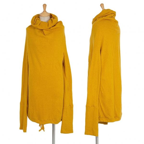 Y's Big Turtle Design Knit Mustard 3