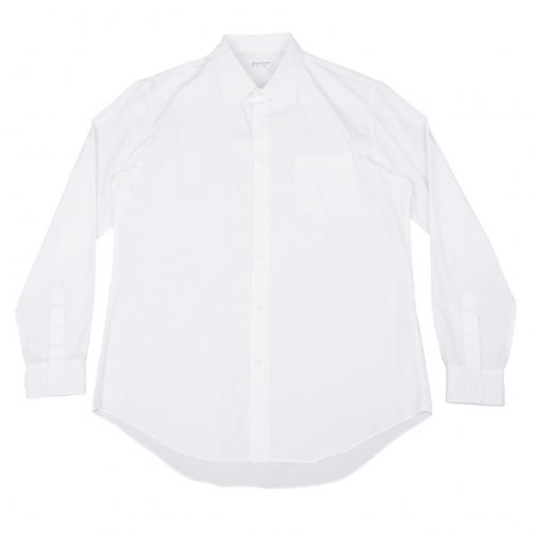 ヨウジヤマモト プールオムYohji Yamamoto POUR HOMME コットンベーシックシャツ 白4