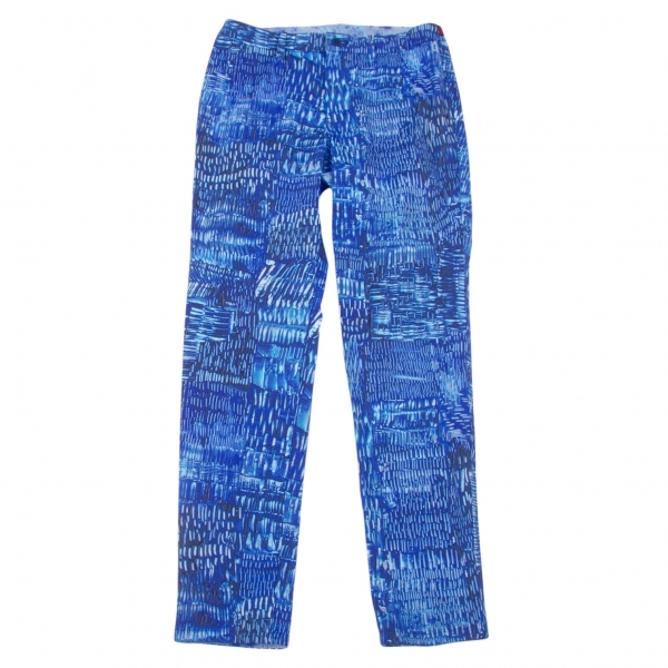 ISSEY MIYAKE HaaT Graphic Print Stretch Pants Size 2(K-66676)