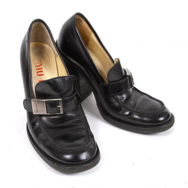 qualità di prima classe Miumiu Miumiu Miumiu Hi heel Loafer Dimensione 37(K-66734)  designer online