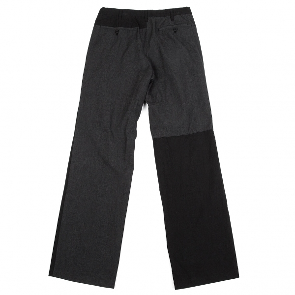 ワイズフォーメンY's for men 製品染めバック切替パンツ 黒チャコール2