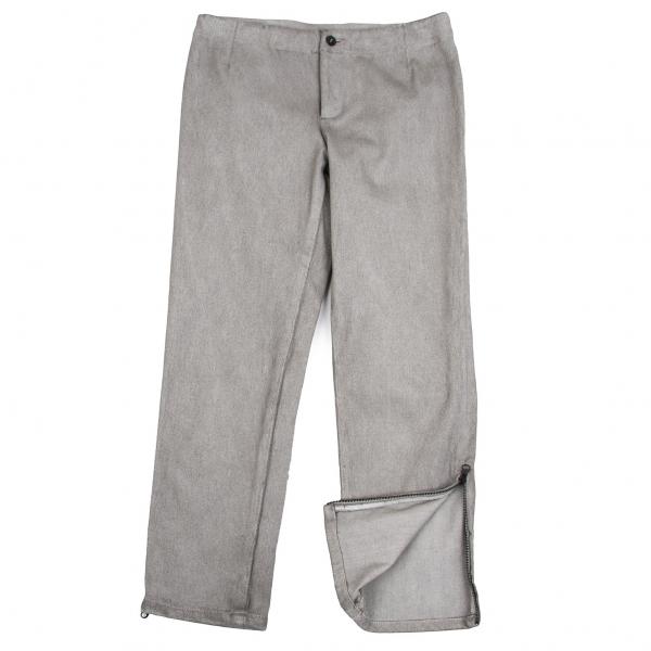 ISSEY MIYAKE HaaT Zip Design Cropped Pants Size 2(K-67029)