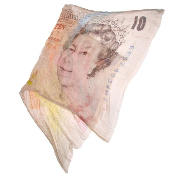 ファリエロサルティ Falierosarti 10ポンド紙幣プリントストール ベージュ系