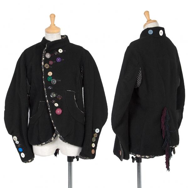 アンダーカバーUNDERCOVER but beautiful アンヴァレリーデュポンぬいぐるみボタンデザインジャケット 黒マルチS