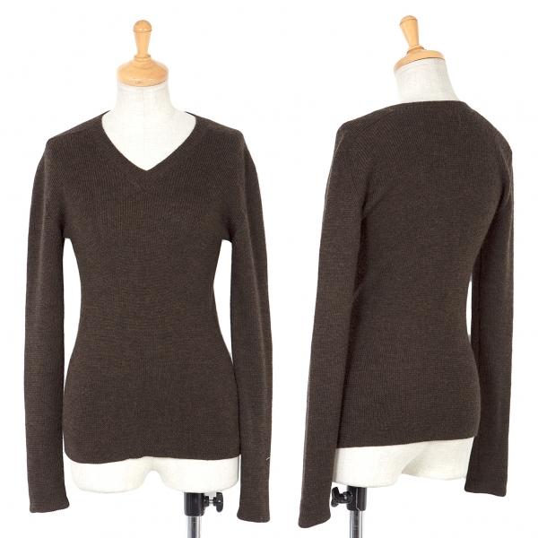Y's Wool Knit Sweater Size S-M(K-67199)