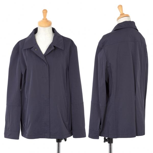 ジルサンダーJIL SANDER ストレッチシャツジャケット 紺40
