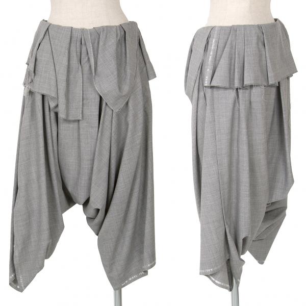 COMME DES GARCONS  Lana cayó la Entrepierna Pantalones Tamaño Manga Corta (K-67996)  suministro de productos de calidad