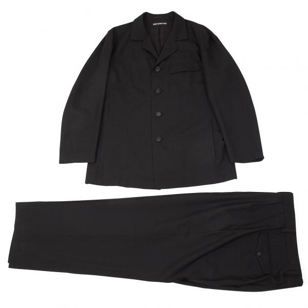 イッセイミヤケ メンISSEY MIYAKE MEN ウールセットアップスーツ 黒L/XL