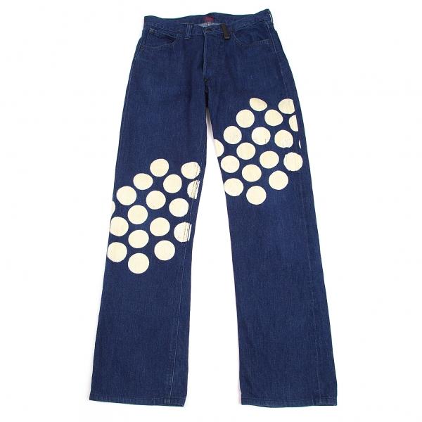 ISSEY-MIYAKE-MEN-Lee-Polka-dot-Printed-Jeans-Size-29-K-68780 thumbnail 2