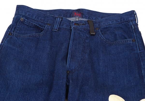 ISSEY-MIYAKE-MEN-Lee-Polka-dot-Printed-Jeans-Size-29-K-68780 thumbnail 3
