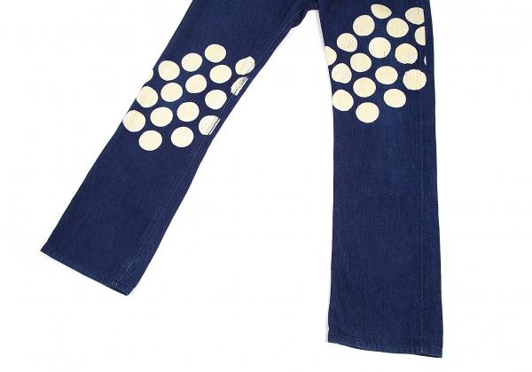 ISSEY-MIYAKE-MEN-Lee-Polka-dot-Printed-Jeans-Size-29-K-68780 thumbnail 9