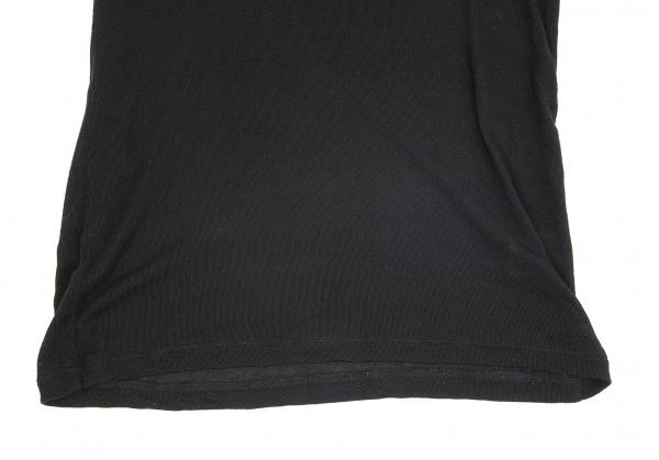 ISSEY MIYAKE Tencel High Neck Knit Sweater Black S M | PLAYFUL