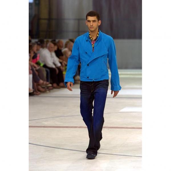 ISSEY-MIYAKE-MEN-Blue-Printed-Jeans-Size-1-K-68957