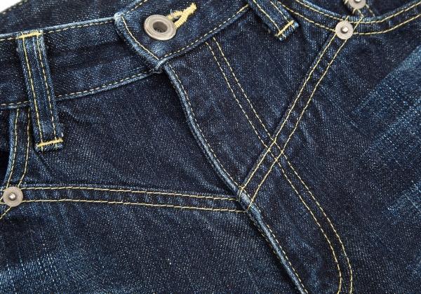 ISSEY-MIYAKE-MEN-Blue-Printed-Jeans-Size-1-K-68957 thumbnail 5