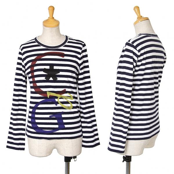 COMME des GARCONS Lettrage Stripe T Shirt Größe à manches courtes (K-68966)