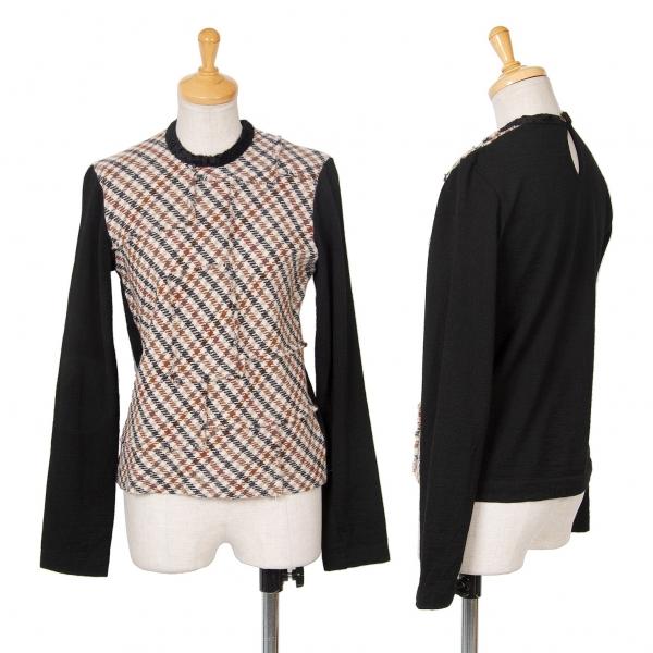 Tricot COMME DES GARCONS frontal Patchwork Camiseta  Talla S-M (K-69243)  ventas al por mayor
