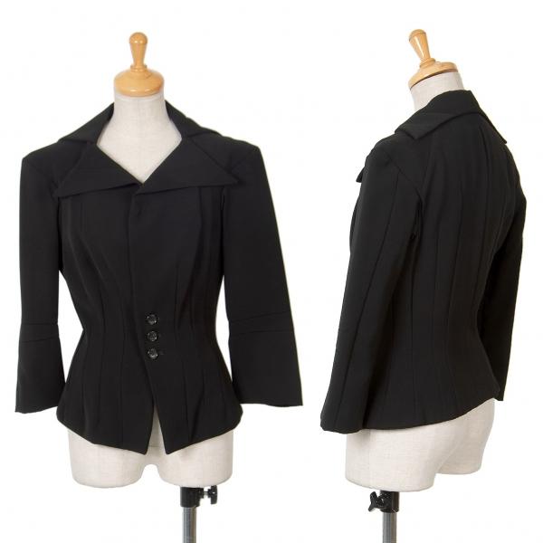 ジュンヤワタナベ コムデギャルソンJUNYA WATANABE COMME des GARCONS エステルシェイプダーツデザインジャケット 黒M位