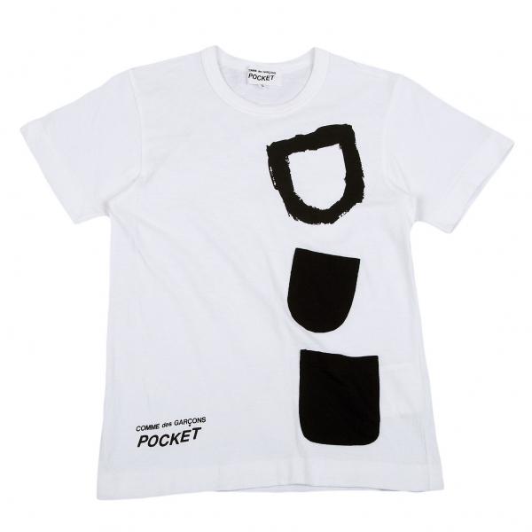COMME des GARCONS poche pâte Design T Shirt Größe S (K-69543)