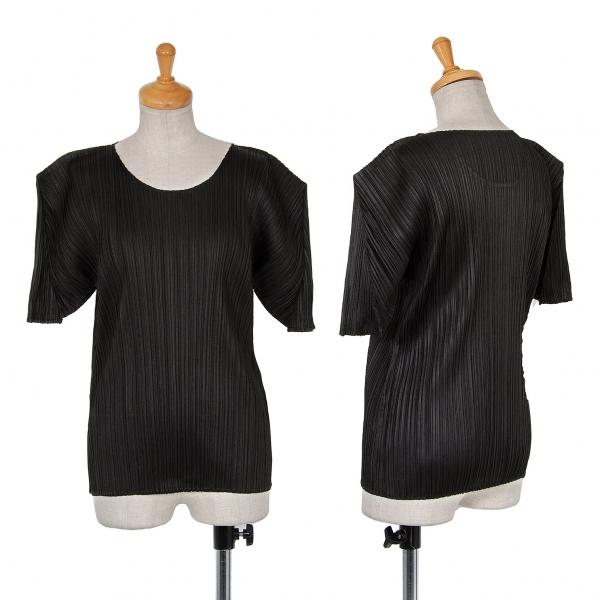 プリーツプリーズPLEATS PLEASE プリーツ半袖Tシャツ 黒3