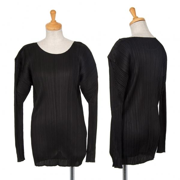 プリーツプリーズPLEATS PLEASE プリーツ長袖Tシャツ 黒4