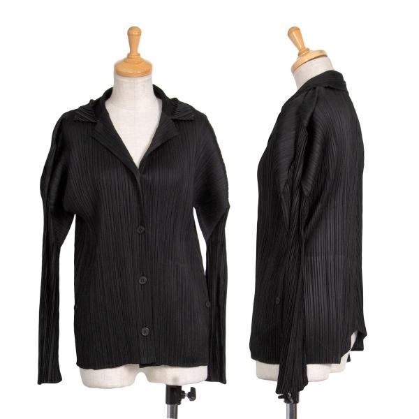 プリーツプリーズPLEATS PLEASE 4Bプリーツジャケット 黒3