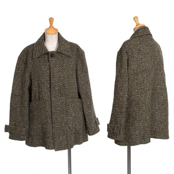 ワイズY's ツイードパッチポケットジャケット カーキ2