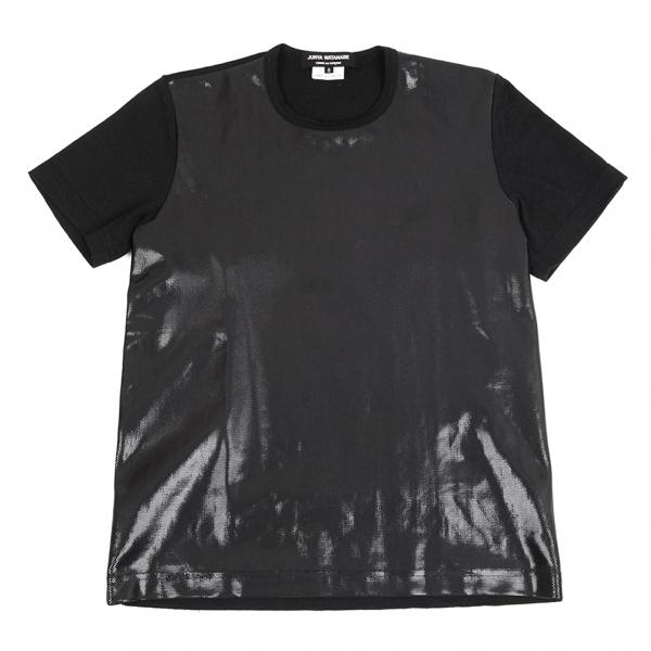 ジュンヤワタナベ コムデギャルソンJUNYA WATANABE COMME des GARCONS 樹脂加工プリントTシャツ 黒S