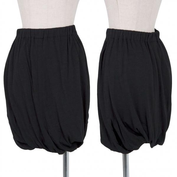 ジュンヤワタナベ コムデギャルソンJUNYA WATANABE COMME des GARCONS ウールレイヤード変形デザインスカート 黒SS