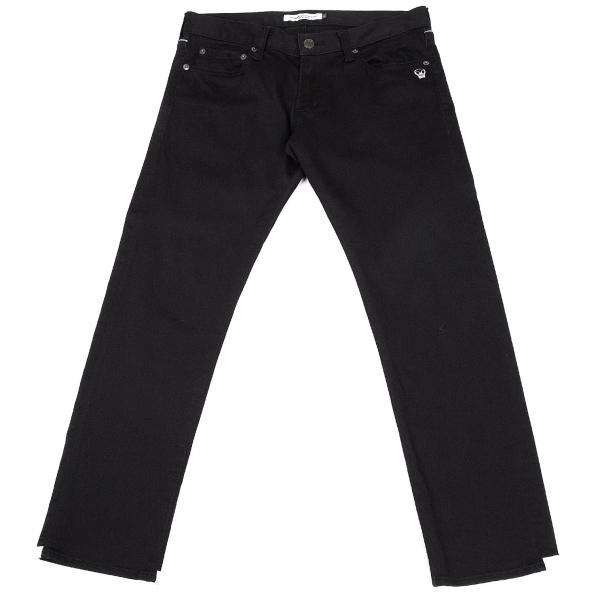 アンダーカバーイズムUNDERCOVER ISM ポイント刺繍パイピングデザインストレッチパンツ 黒白3