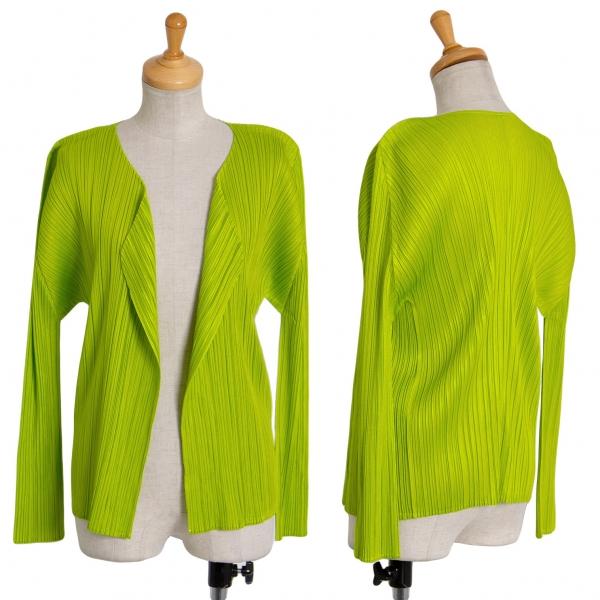 PLEATS PLEASE Buttonless Cardigan Size 3(K-71474)