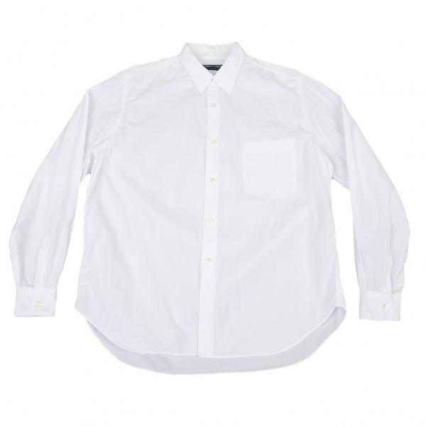 コムデギャルソンオムCOMME des GARCONS HOMME パッカリングステッチ長袖コットンシャツ 白M位