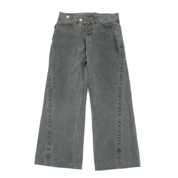ジーンズポールゴルチエJean's Paul GAULTIER 切替キャンバスブーツカットパンツ ブルーグレー46