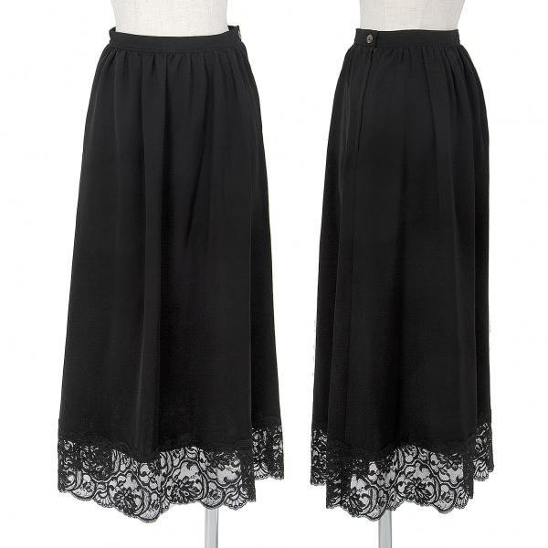 トリココムデギャルソンtricot COMME des GARCONS 裾レース切替スカート 黒S