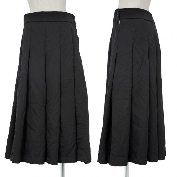 ブラックコムデギャルソンBLACK COMME des GARCONS エステルプリーツスカート 黒L