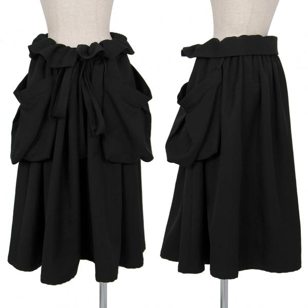 リミフゥLIMI feu ビッグポケットワイドスカート 黒S