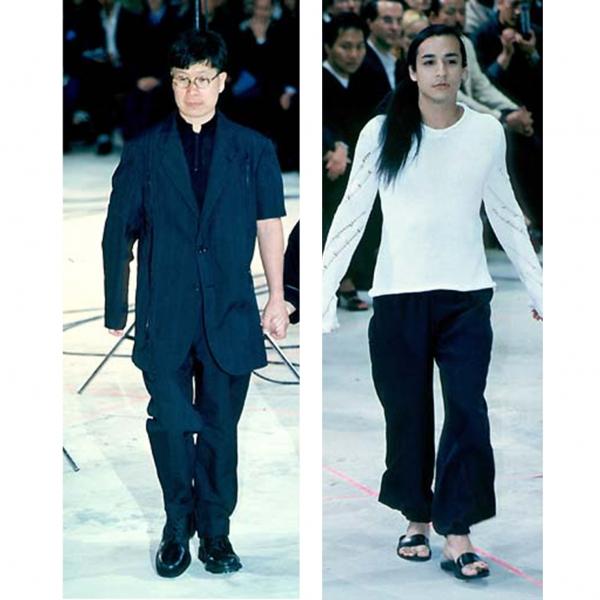 ヨウジヤマモト プールオムYohji Yamamoto POUR HOMME ウールギャバ袖着脱ジップデザインセットアップスーツ 黒M