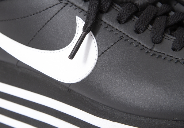 episodio Cámara Cuerpo  COMME des GARCONS NIKE CORTEZ CDG Platform Sneakers Black US 6   PLAYFUL