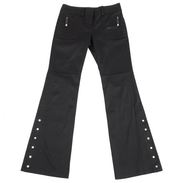 マイケルコースMICHAEL KORS 裾ボタンデザインフレアパンツ 黒4